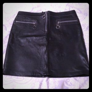 Michael Kors leather skirt